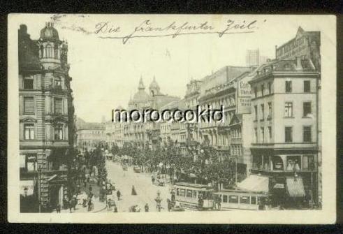 FRANKFURT GERMANY 1912 B&W STREET SCENE