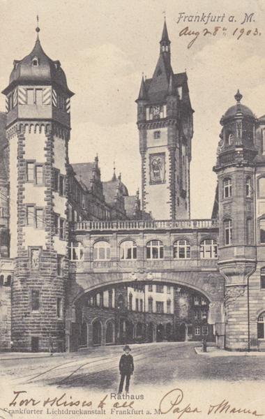 RATHAUS FRANFURT Lichtdruckanstalt 1903