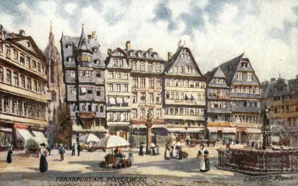 Frankfurt Germany Romerberg Tuck Oilette
