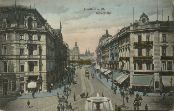 Frankfurt Germany - Nice Street Scene c1910