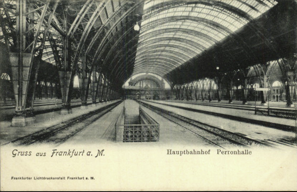 Frankfurt train station platform