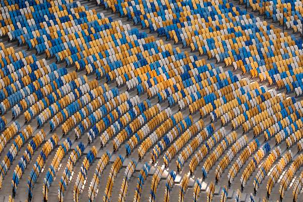 Seats at Olympic stadium, Kyiv, Ukraine