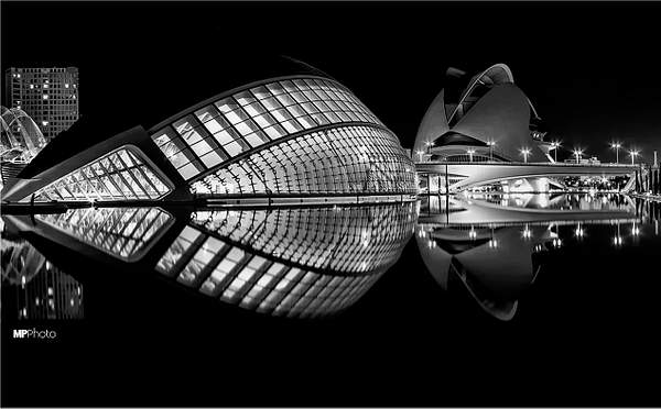 Hemispheric at Night BW